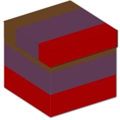 Brown Purple Red Storage Stool 12   by Jojostore
