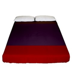 Brown Purple Red Fitted Sheet (queen Size) by Jojostore