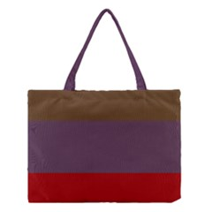 Brown Purple Red Medium Tote Bag by Jojostore