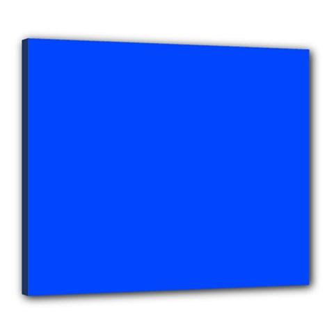Plain Blue Canvas 24  X 20  by Jojostore