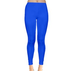 Plain Blue Leggings  by Jojostore