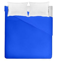 Plain Blue Duvet Cover Double Side (queen Size) by Jojostore