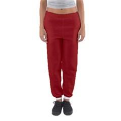Plain Blue Red Women s Jogger Sweatpants by Jojostore