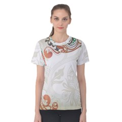 Flower Floral Tree Leaf Women s Cotton Tee by Jojostore
