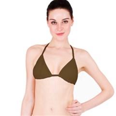 Plain Brown Bikini Top
