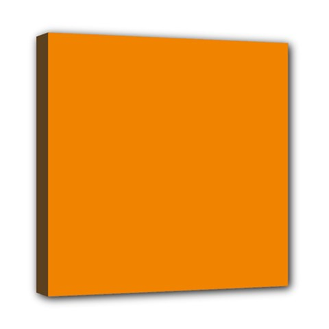 Plain Orange Mini Canvas 8  X 8  by Jojostore