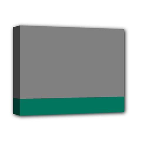 Trolley Grey Green Tropical Deluxe Canvas 14  X 11  by Jojostore