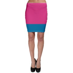 Trolley Pink Blue Tropical Bodycon Skirt by Jojostore