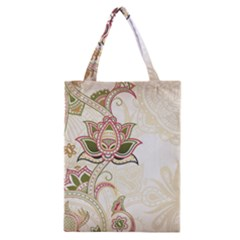 Floral Flower Star Leaf Gold Classic Tote Bag by Jojostore