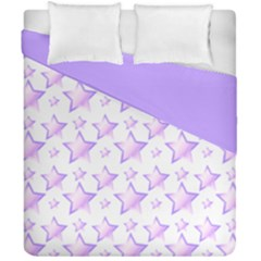 Lilac Stars Double Sided Duvet Cover (california King Size) by cheekywitch