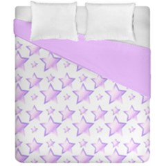 Pink And Lilac Stars Double Sided Duvet Cover (california King Size) by cheekywitch