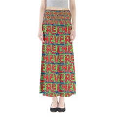 Typographic Graffiti Pattern Maxi Skirts by dflcprintsclothing