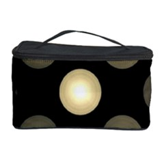 Gray Balls On Black Background Cosmetic Storage Case by Nexatart
