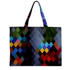 Diamond Abstract Background Background Of Diamonds In Colors Of Orange Yellow Green Blue And More Zipper Mini Tote Bag by Nexatart