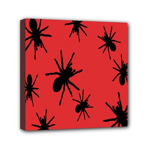 Illustration With Spiders Mini Canvas 6  X 6  by Nexatart