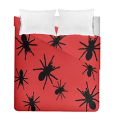 Illustration With Spiders Duvet Cover Double Side (full/ Double Size) by Nexatart