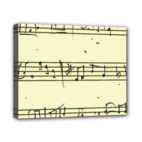 Music Notes On A Color Background Canvas 10  X 8  by Nexatart