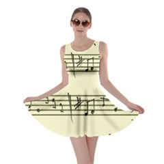 Music Notes On A Color Background Skater Dress