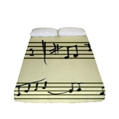 Music Notes On A Color Background Fitted Sheet (full/ Double Size)