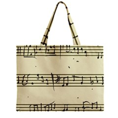 Music Notes On A Color Background Zipper Mini Tote Bag by Nexatart