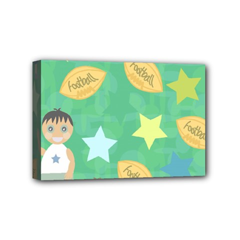 Football Kids Children Pattern Mini Canvas 6  X 4  by Nexatart