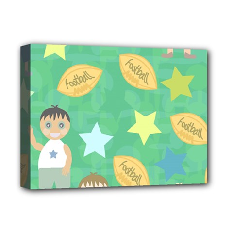 Football Kids Children Pattern Deluxe Canvas 16  X 12   by Nexatart