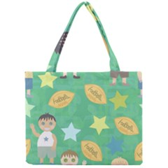 Football Kids Children Pattern Mini Tote Bag by Nexatart