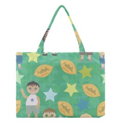 Football Kids Children Pattern Medium Tote Bag by Nexatart