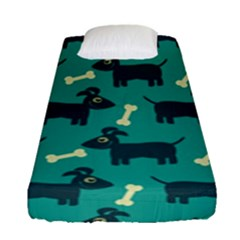 Happy Dogs Animals Pattern Fitted Sheet (single Size)