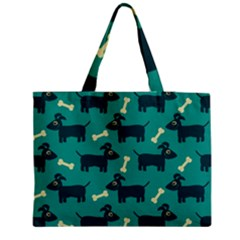 Happy Dogs Animals Pattern Medium Zipper Tote Bag by Nexatart