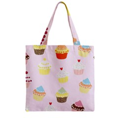 Seamless Cupcakes Wallpaper Pattern Background Zipper Grocery Tote Bag by Nexatart