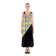 Note Abstract Paintwork Sleeveless Maxi Dress