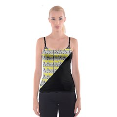 Note Abstract Paintwork Spaghetti Strap Top