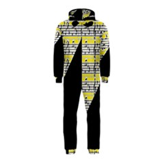 Note Abstract Paintwork Hooded Jumpsuit (kids)