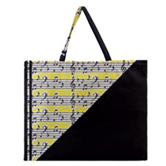 Note Abstract Paintwork Zipper Large Tote Bag by Nexatart