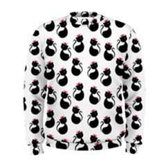 Cat Seamless Animals Pattern Men s Sweatshirt