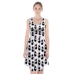 Cat Seamless Animals Pattern Racerback Midi Dress
