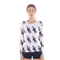 Insect Animals Pattern Women s Long Sleeve Tee