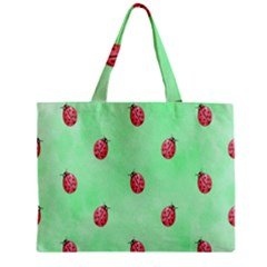 Pretty Background With A Ladybird Image Zipper Mini Tote Bag by Nexatart