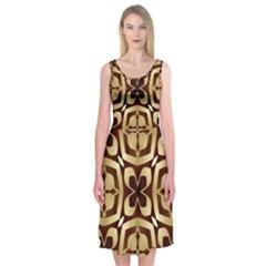 Abstract Seamless Background Pattern Midi Sleeveless Dress