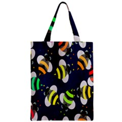 Bees Cartoon Bee Pattern Zipper Classic Tote Bag by Nexatart