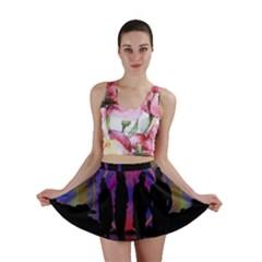 Abstract Surreal Sunset Mini Skirt