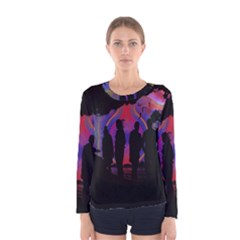 Abstract Surreal Sunset Women s Long Sleeve Tee by Nexatart