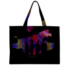 Abstract Surreal Sunset Zipper Mini Tote Bag