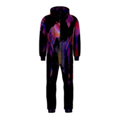 Abstract Surreal Sunset Hooded Jumpsuit (Kids)