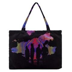Abstract Surreal Sunset Medium Zipper Tote Bag by Nexatart