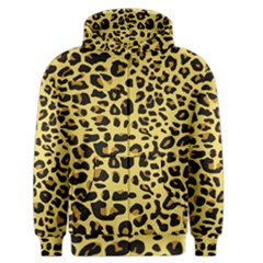 A Jaguar Fur Pattern Men s Zipper Hoodie