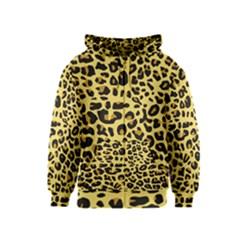 A Jaguar Fur Pattern Kids  Zipper Hoodie