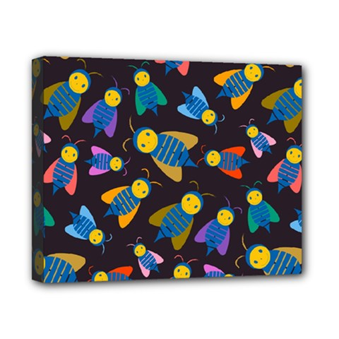 Bees Animal Insect Pattern Canvas 10  X 8