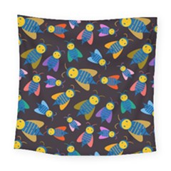 Bees Animal Insect Pattern Square Tapestry (large)